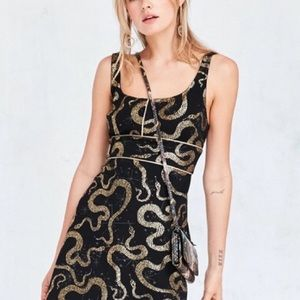 Ecote Gold Foil Snake Dress